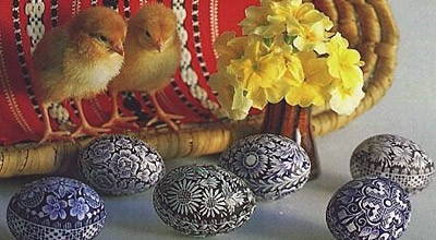 Velikonoční přání - jarní